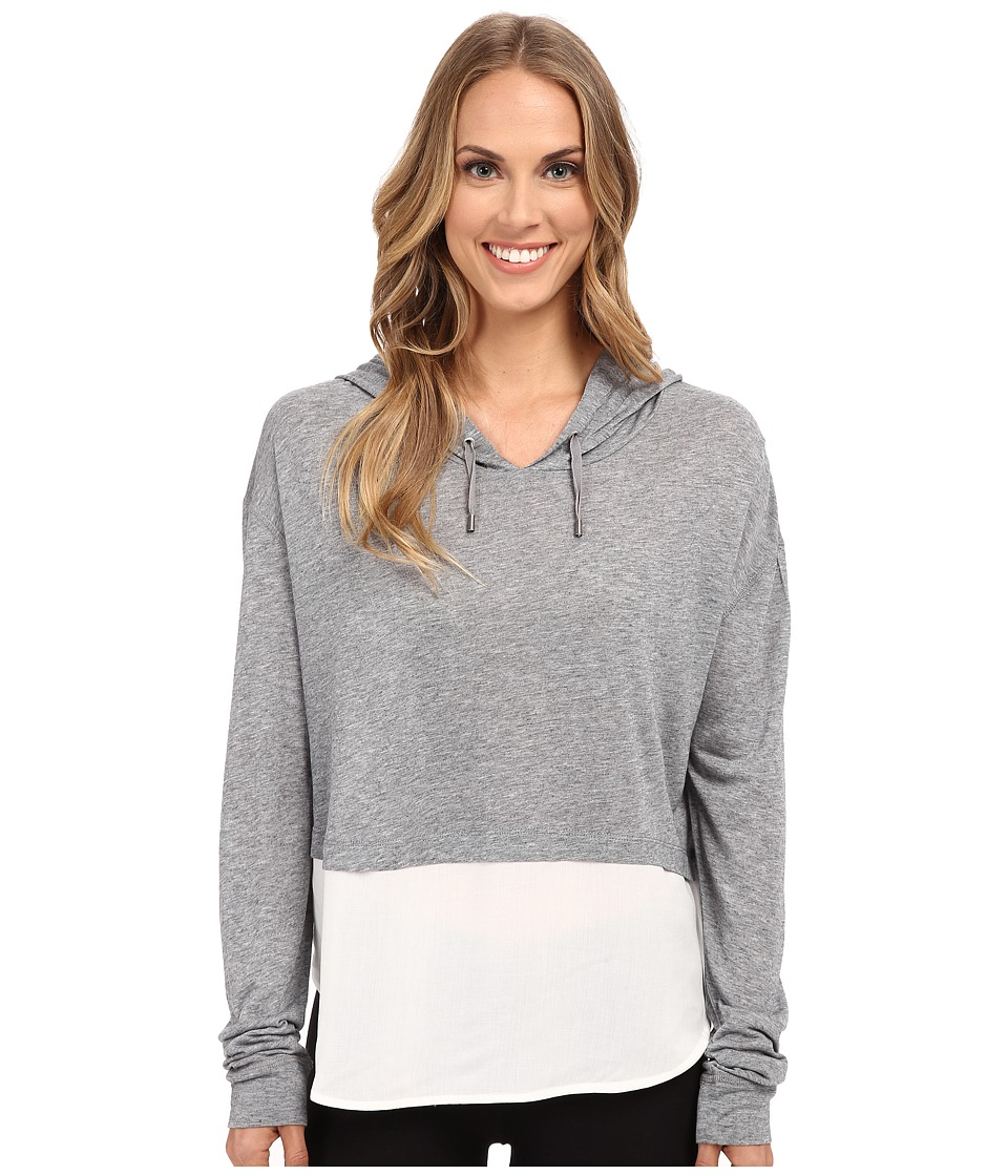 The Beginning Of Cashmere Modal Emma Blocked Hoodie Heather Grey Womens Sweatshirt