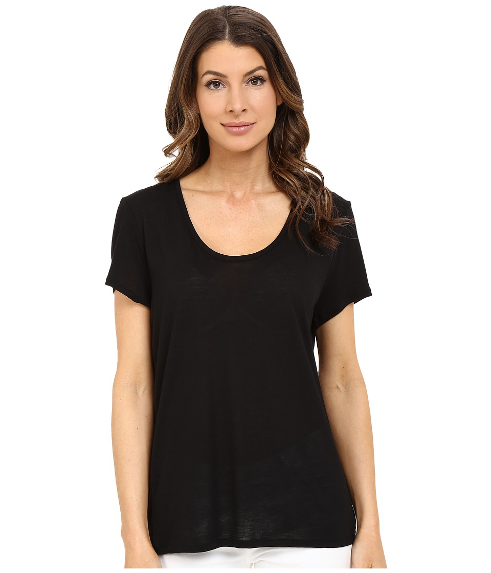 The Beginning Of Cashmere Modal Charlotte Slouchy Tee Black Womens T Shirt