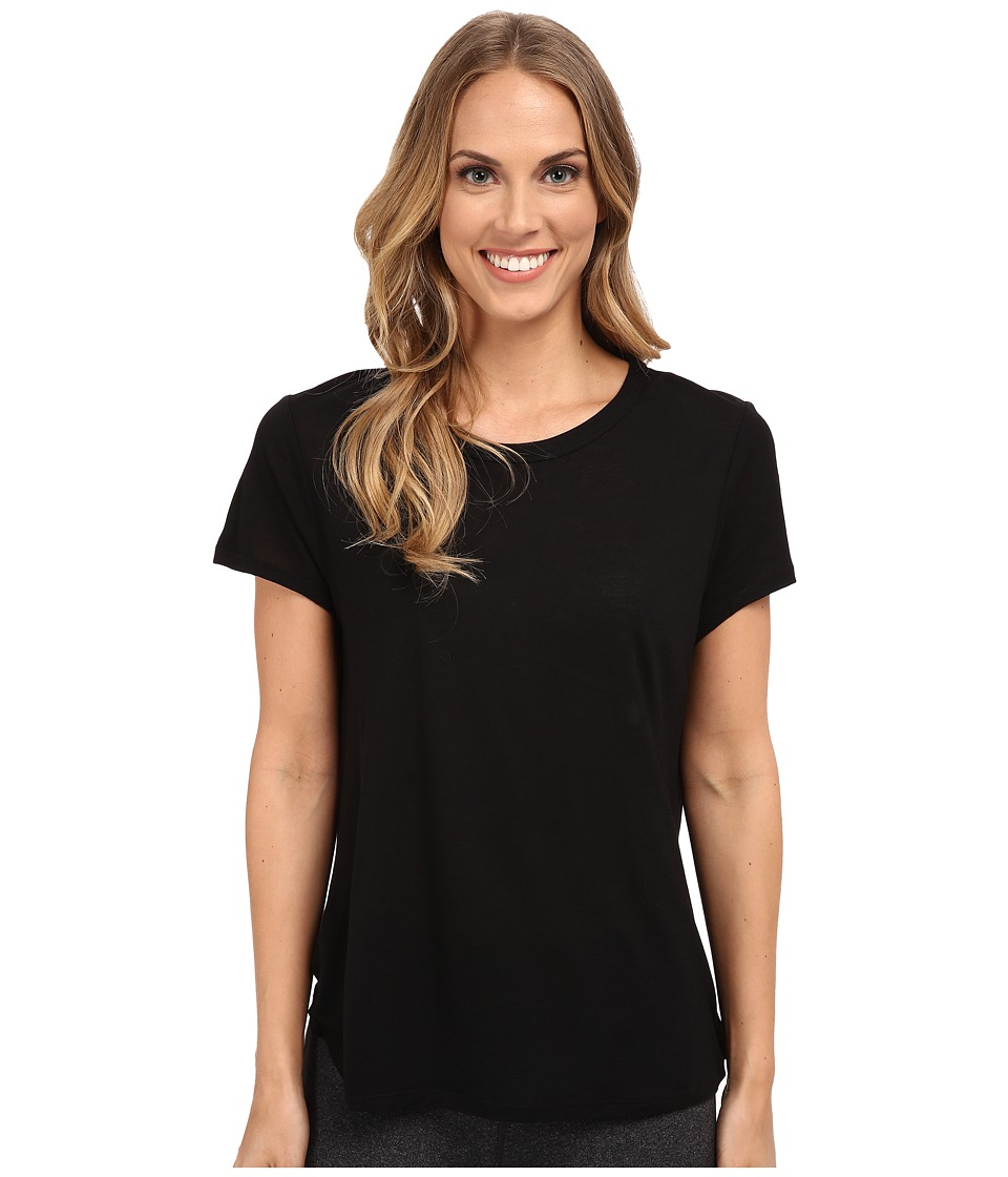 The Beginning Of Cashmere Modal Effie Perfect Fit Tee Black Womens T Shirt