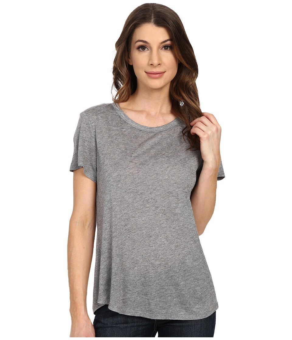 The Beginning Of Cashmere Modal Effie Perfect Fit Tee Heather Grey Womens T Shirt