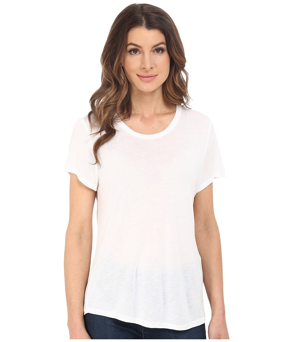 The Beginning Of Cashmere Modal Effie Perfect Fit Tee White Womens T Shirt