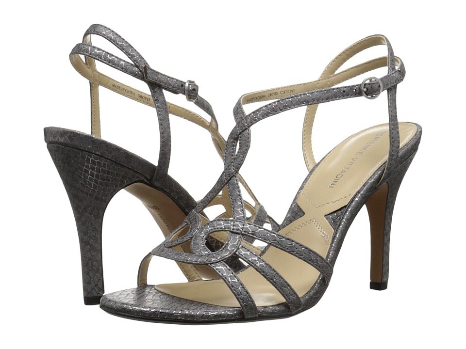 Adrienne Vittadini Grovis Pewter Metallic High Heels