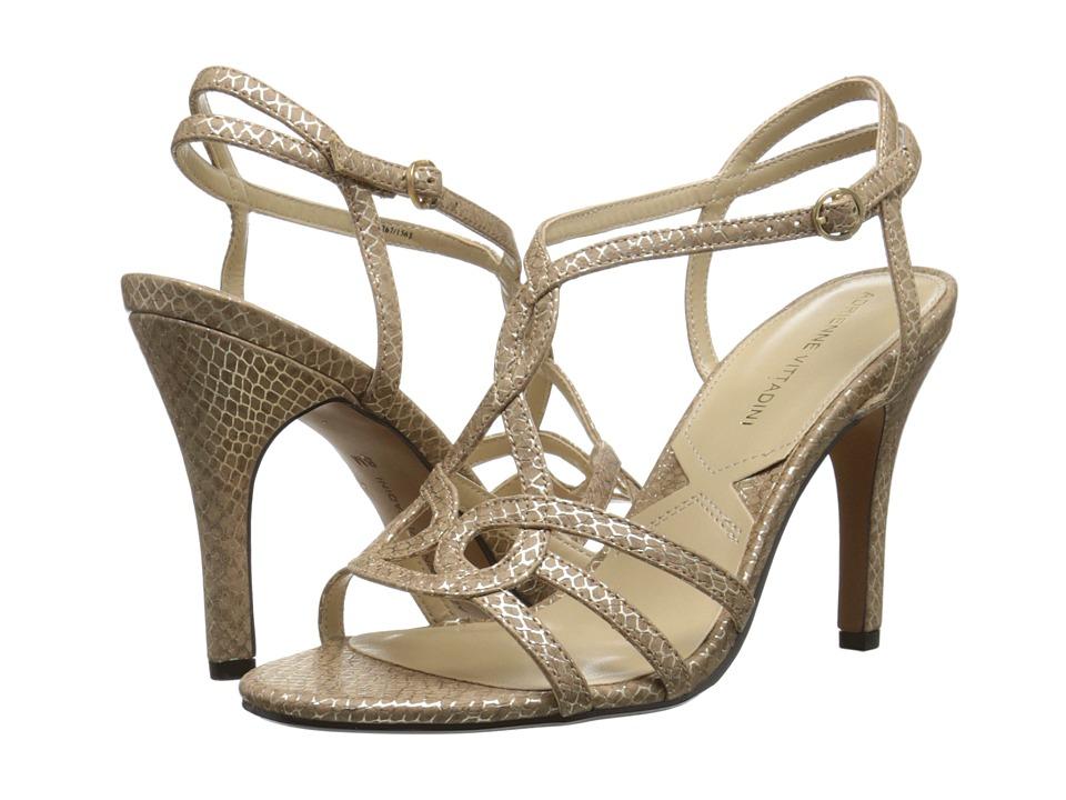 Adrienne Vittadini Grovis Taupe Metallic High Heels