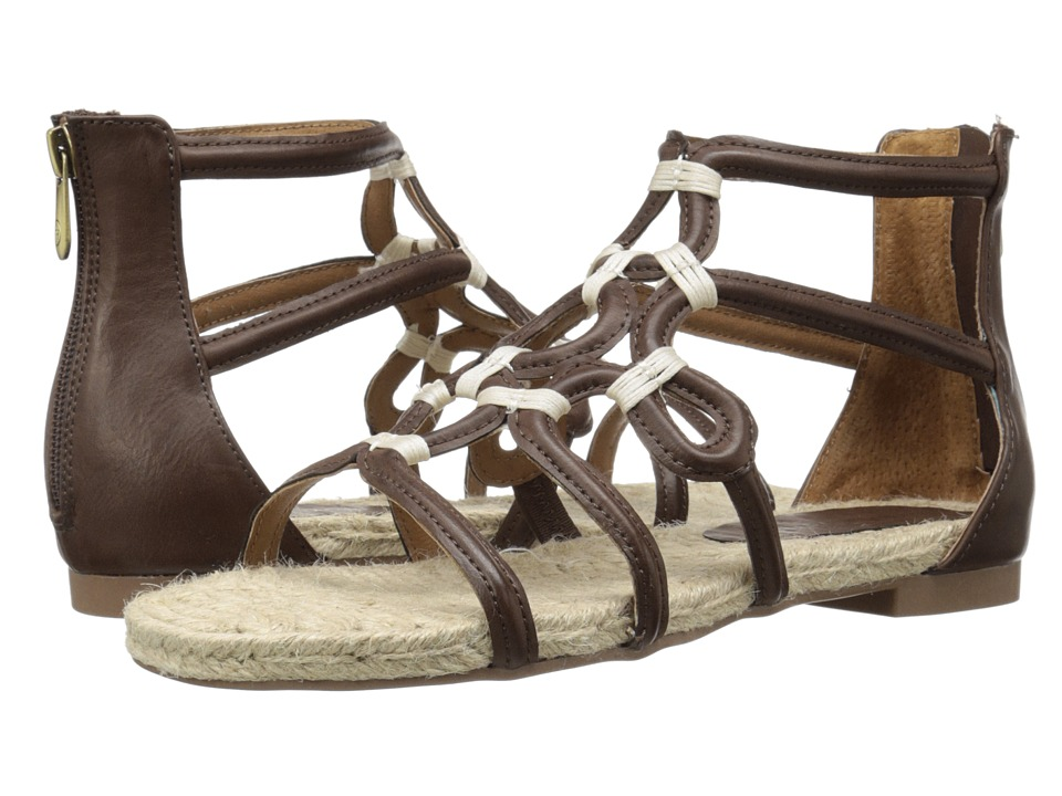 Adrienne Vittadini Pablic Dark Brown Distressed Womens Sandals