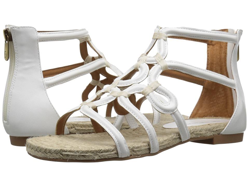 Adrienne Vittadini Pablic White Smooth Womens Sandals