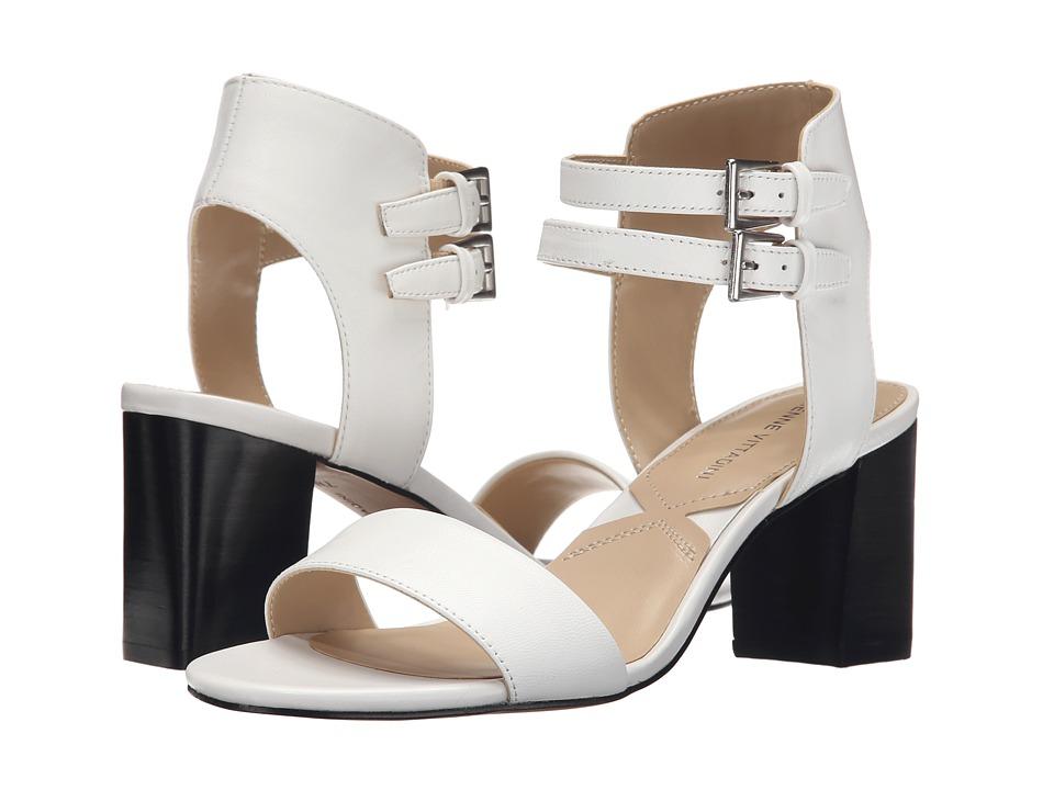 Adrienne Vittadini Palti White Soft Nappa High Heels