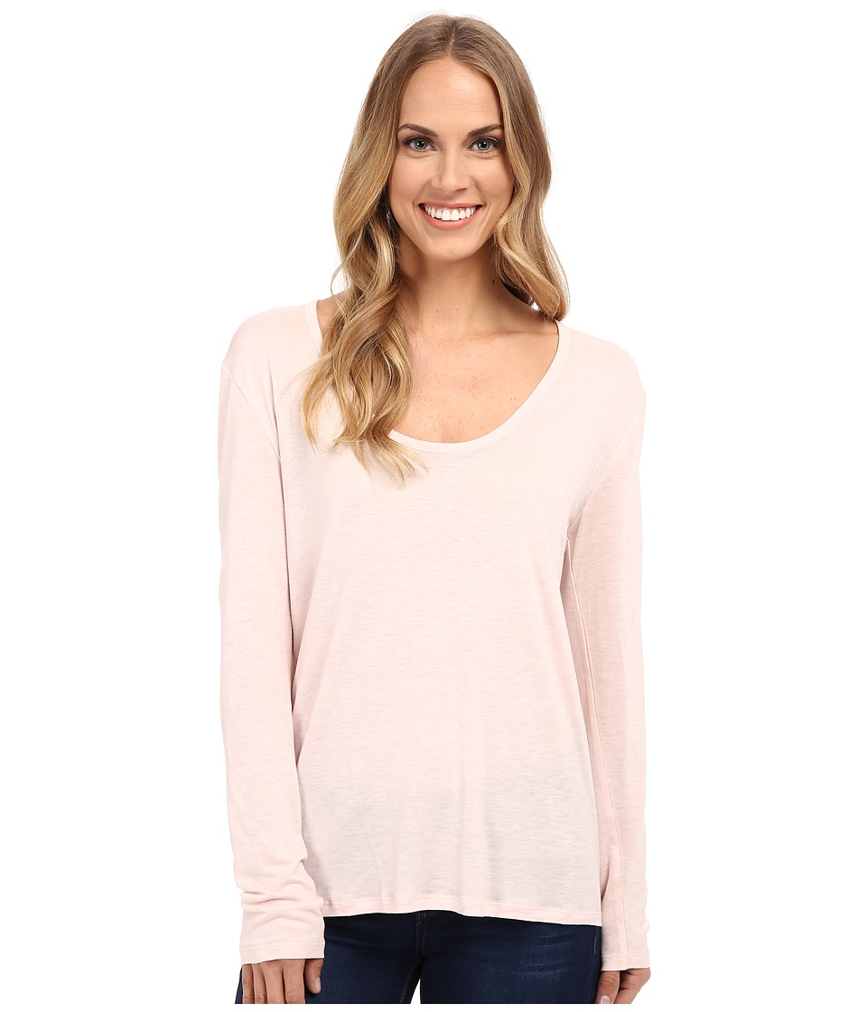 The Beginning Of Cashmere Modal Butina Long Sleeve Tee Petal Womens T Shirt
