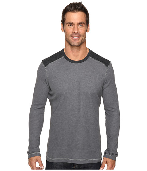Ecoths Aaron Long Sleeve Pullover - Ash