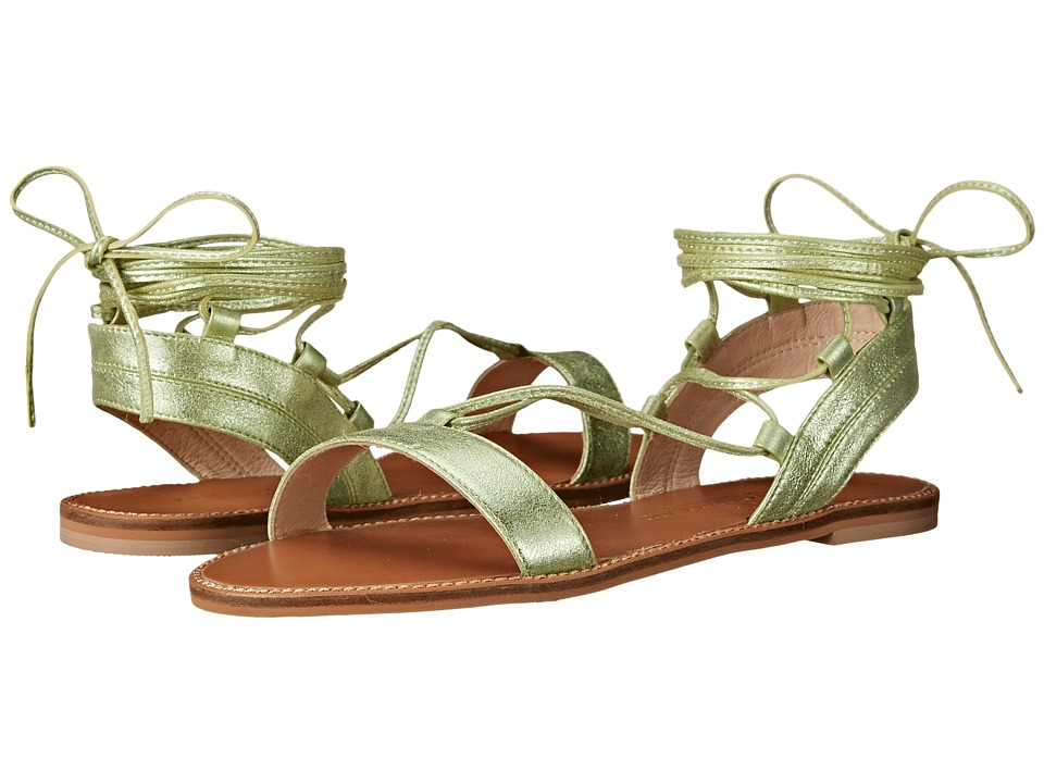 Kristin Cavallari Belle Mint Tumbled Leather Womens Sandals
