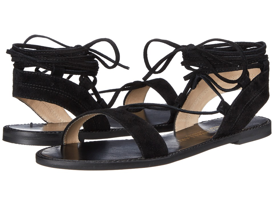 Kristin Cavallari Belle Black Kid Suede Womens Sandals