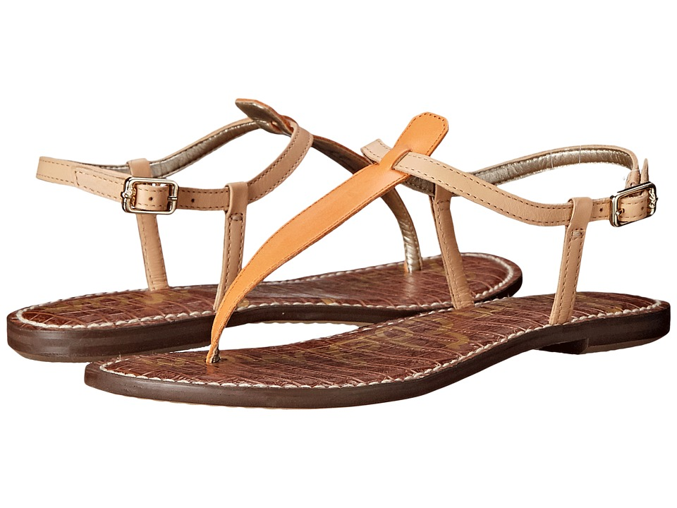 Sam Edelman Gigi (Tangelo/Naked Natural Vaquero Saddle Leather/Naked Atanado Leath) Sandals