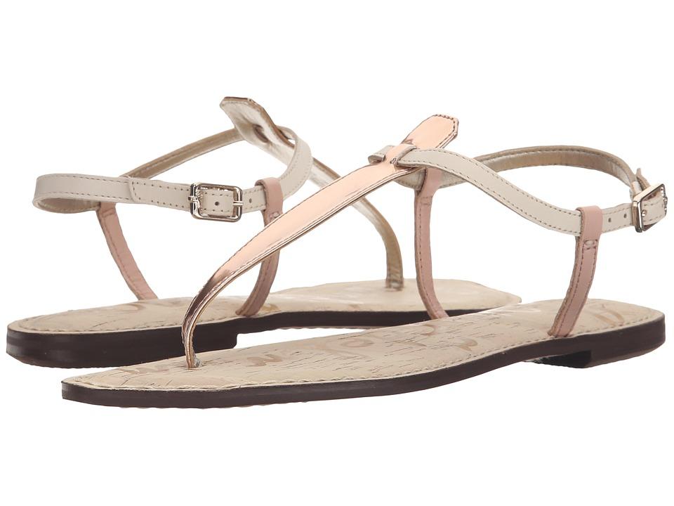 Sam Edelman Gigi (Seashell Pink/Modern Ivory/Oro Remato Liquid Metallic/Vaquero Le) Sandals