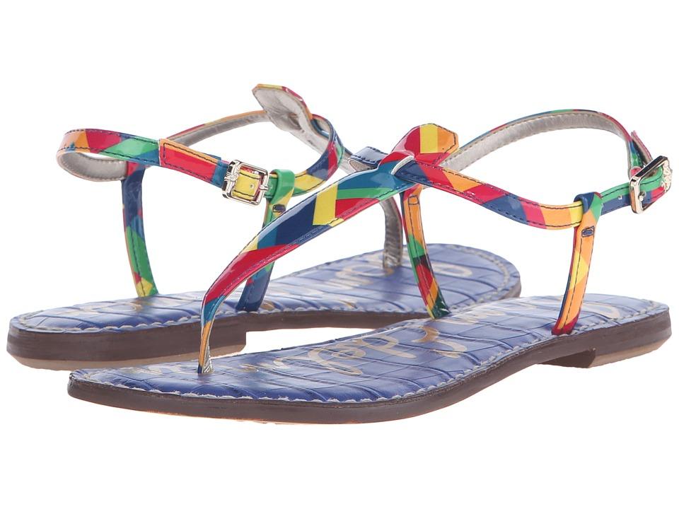 Sam Edelman Gigi (Rainbow Multi Rainbow Zigzag) Sandals