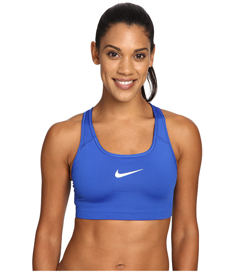 Nike Pro Classic Swoosh™ Sports Bra - Game Royal/White