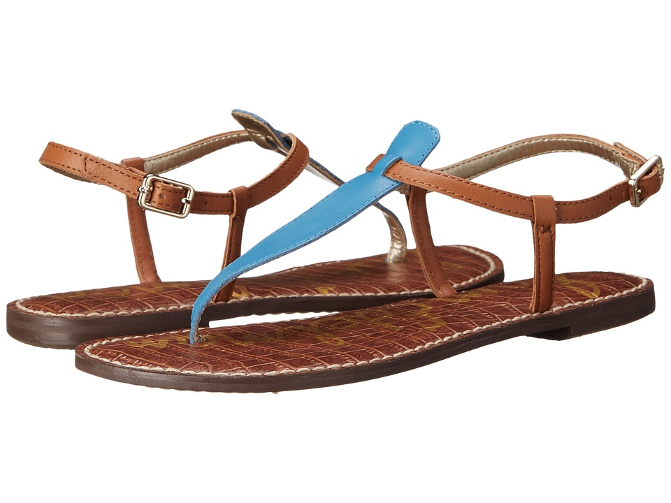 Sam Edelman Gigi (Malibu Blue/Saddle Vaquero Saddle Leather) Sandals