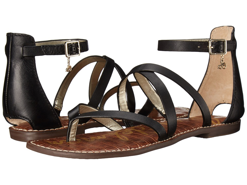 Sam Edelman Gilroy Black Vaquero Saddle Leather Womens Sandals