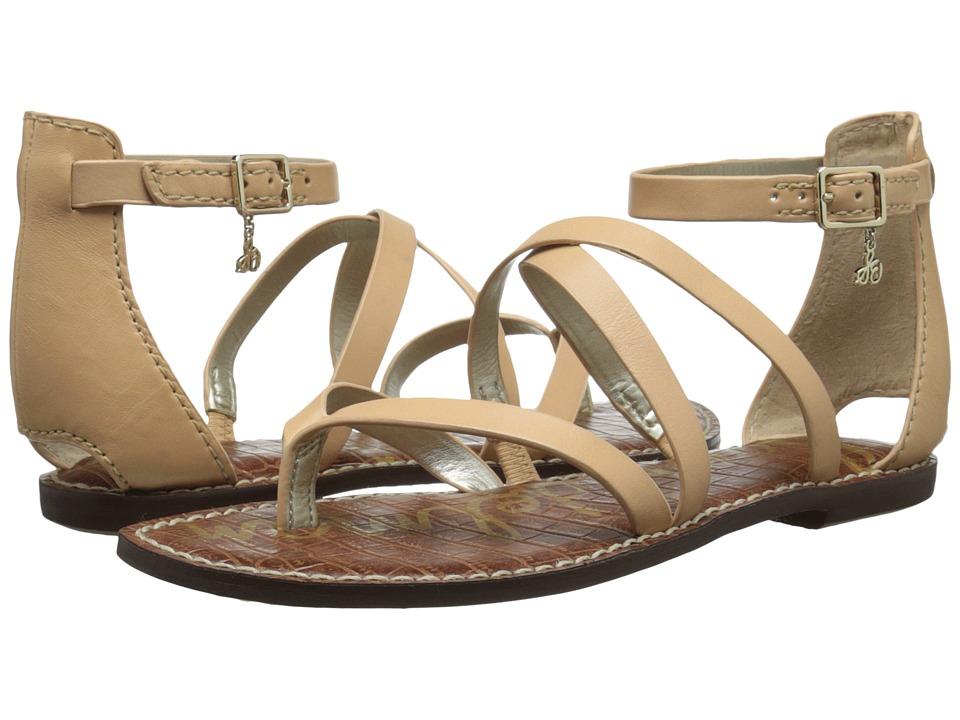 Sam Edelman Gilroy Natural Naked Naked Atanado Leather Womens Sandals