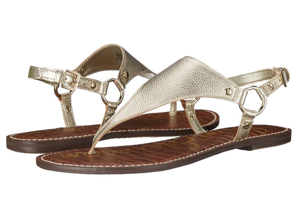 Sam Edelman Greta Jute Tumbled Opal Metallic Leather Womens Sandals