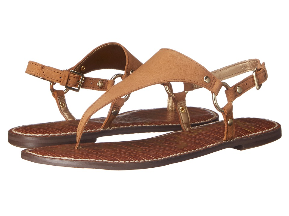 Sam Edelman Greta Golden Caramel Wayne Nubuck Leather Womens Sandals