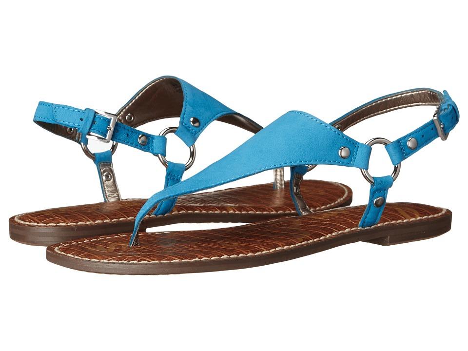 Sam Edelman Greta Malibu Blue Wayne Nubuck Leather Womens Sandals