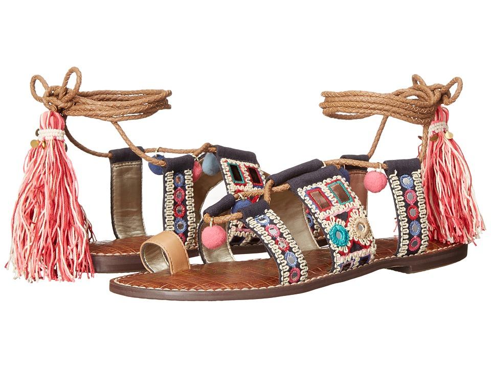 Sam Edelman Gretchen Golden Caramel Vaquero Saddle Leather Womens Sandals
