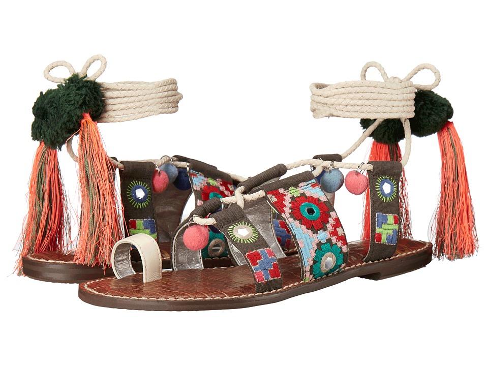 Sam Edelman Gretchen Modern Ivory Vaquero Saddle Leather Womens Sandals