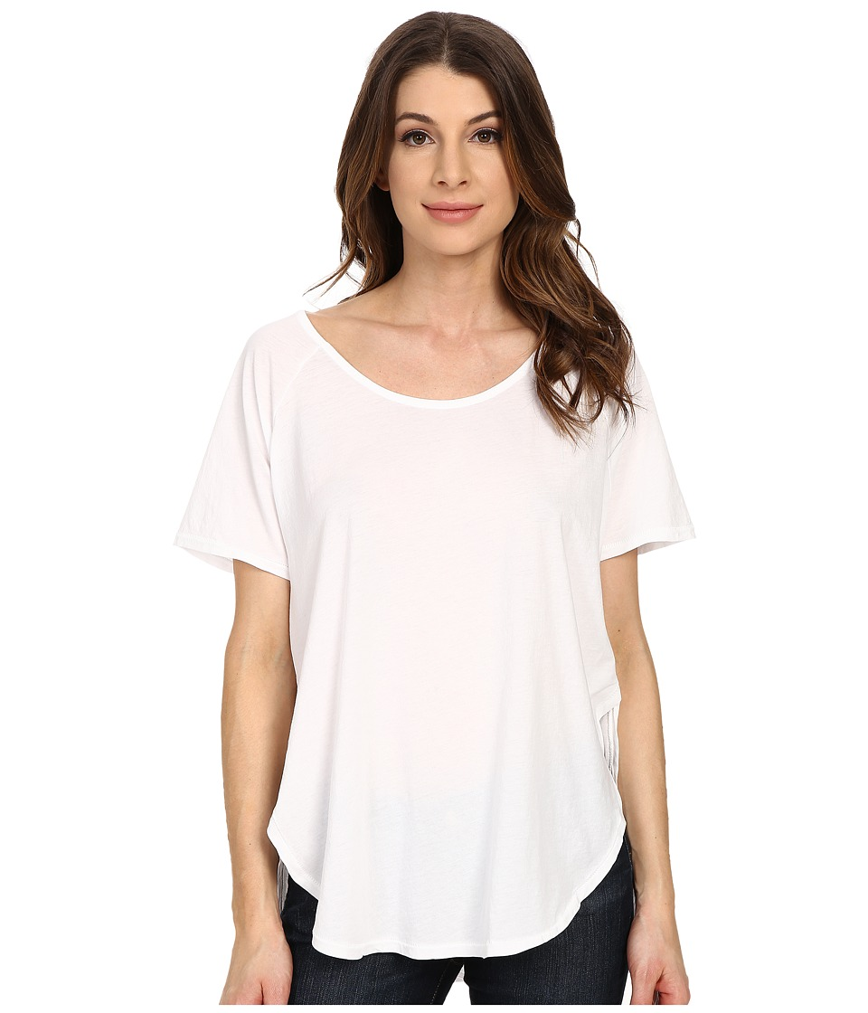 The Beginning Of Adele Relaxed Curved Hem Tee White Womens T Shirt