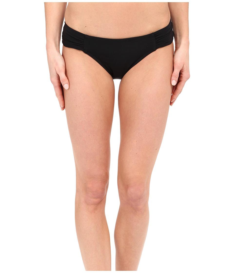 JETS by Jessika Allen Illuminate Gathered Side Hipster Bikini Bottom Black Womens Swimwear