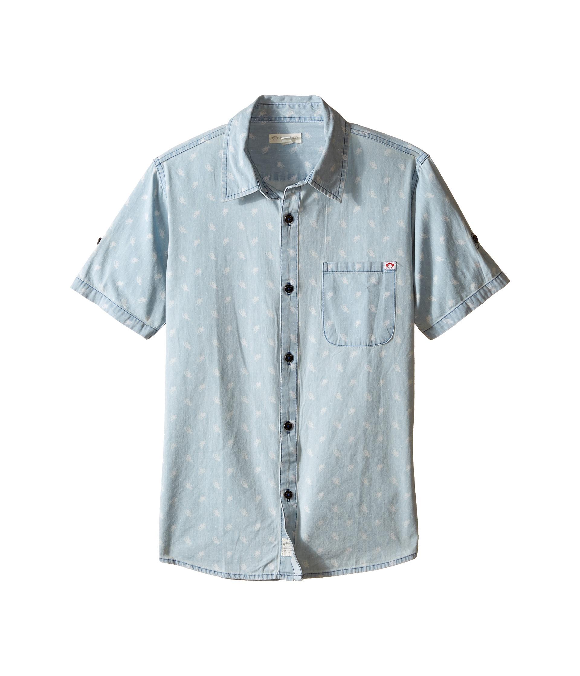 Appaman kids vintage inspired button up shirt with angler for Fish print shirt