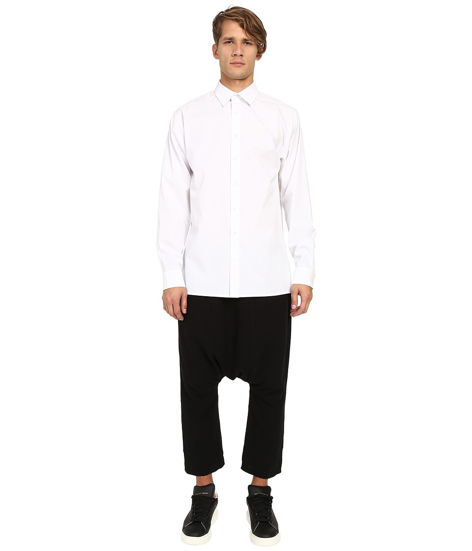 D.GNAK Wide Sleeves Shirt White Mens Clothing