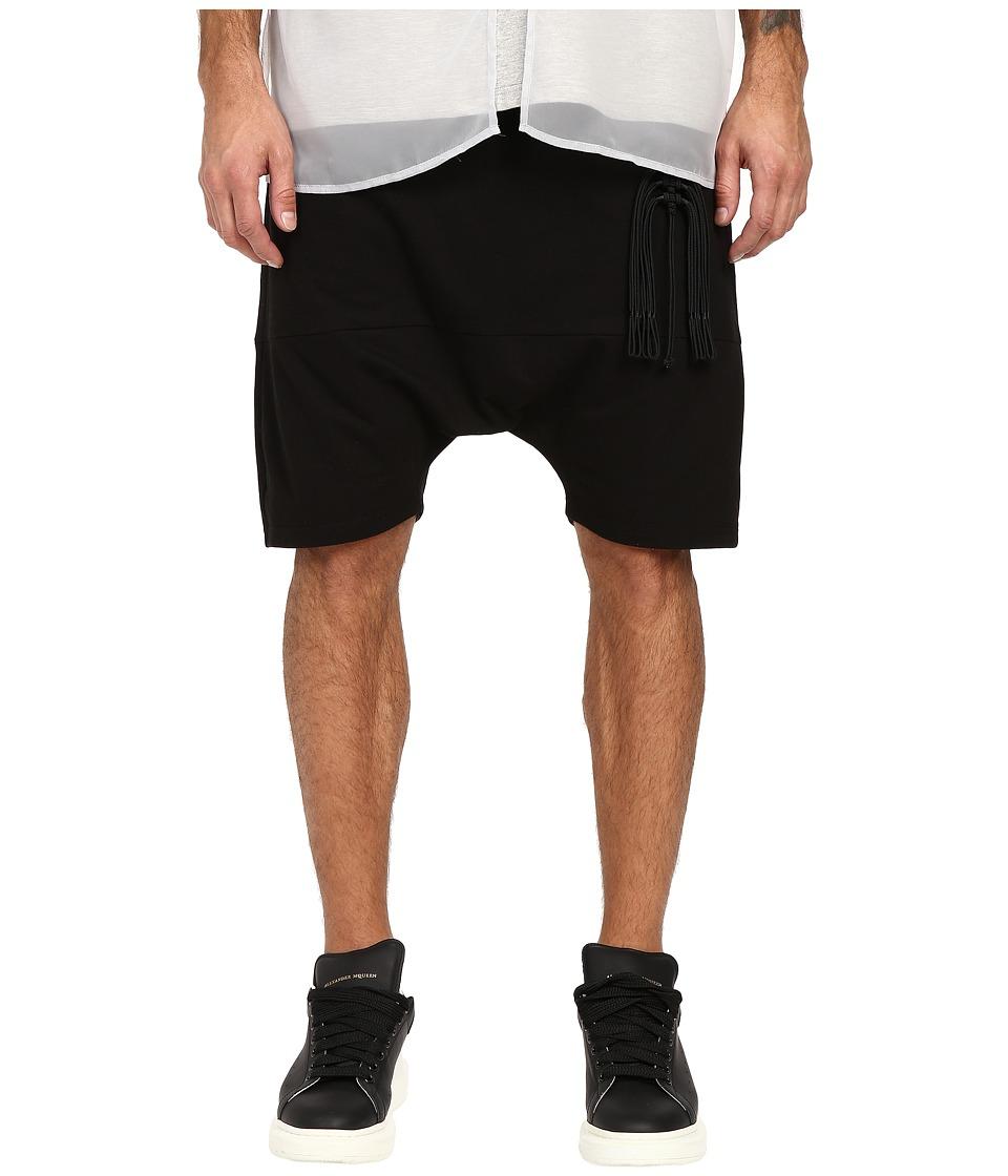 D.GNAK Ornament Jersey Shorts Black Mens Shorts