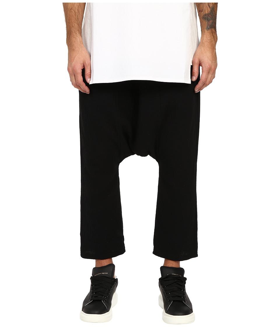 D.GNAK Basic Baggy Pants Black Mens Casual Pants