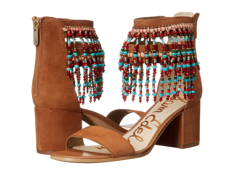 Sam Edelman Sibel Saddle Kid Suede Leather High Heels