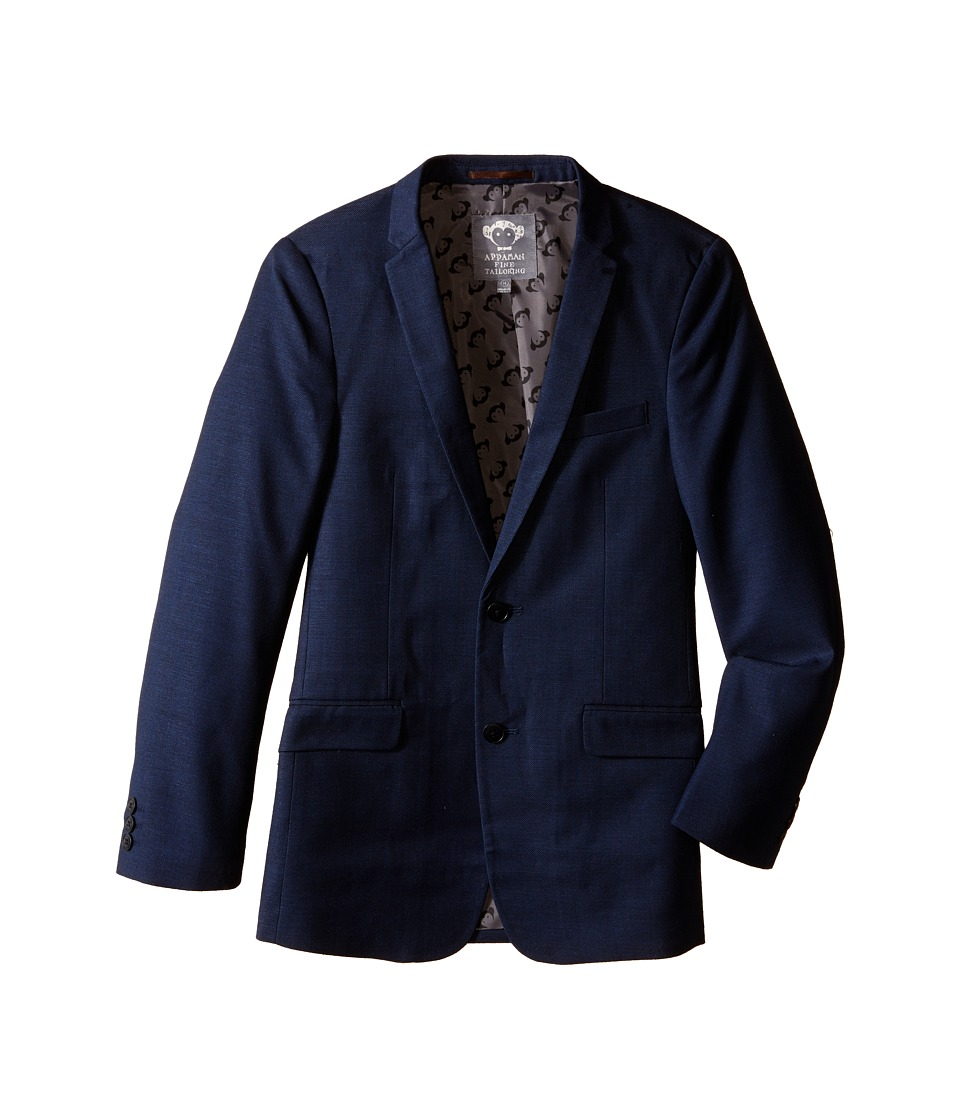 Appaman Kids Classic Tailored Jacket with Appaman Logo Lining Toddler/Little Kids/Big Kids Indigo Boys Coat