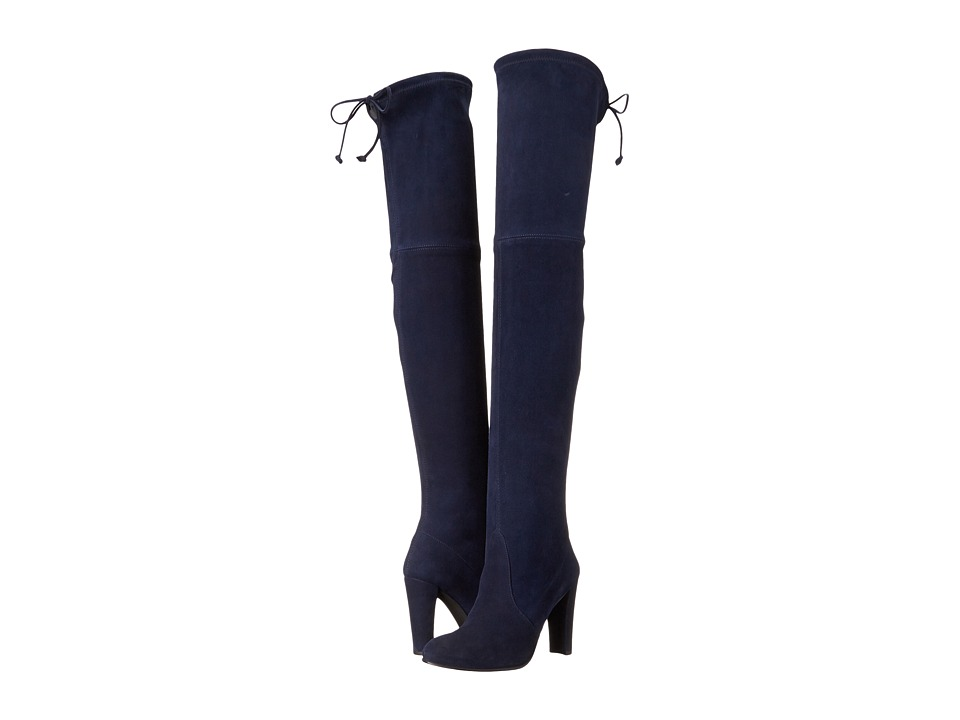 Stuart Weitzman Highland (Niceblue Suede) Women's Dress Pull-on Boots