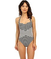 JETS by Jessika Allen - Meridian Contrast Spliced Infinity Halter One-Piece Swimsuit