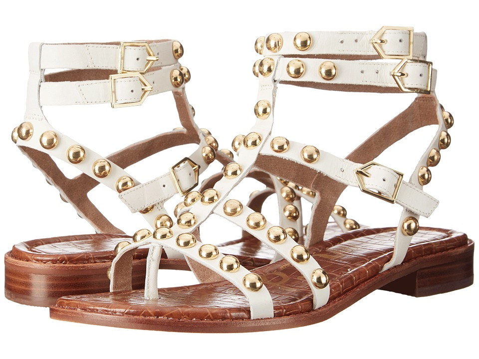 Sam Edelman Eavan White Leather Womens Sandals