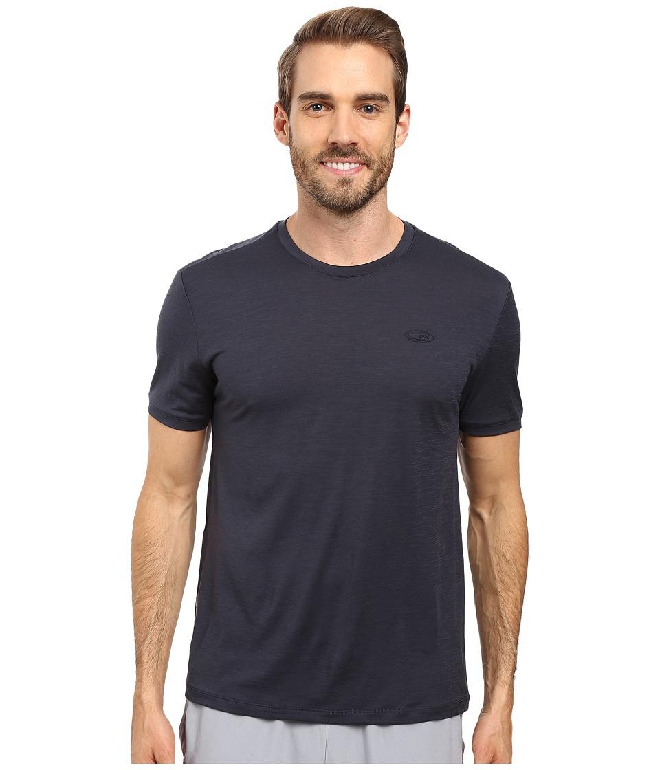 Icebreaker Tech T Lite Short Sleeve Shirt (Stealth/Stealth/Stealth) Men