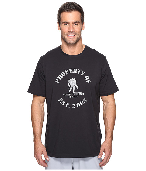 Under Armour UA Property of Wounded Warrior Project Charged Cotton Tee - Black