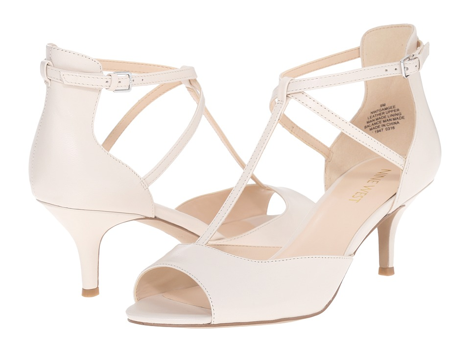 Nine West Gamgee Off White Leather High Heels