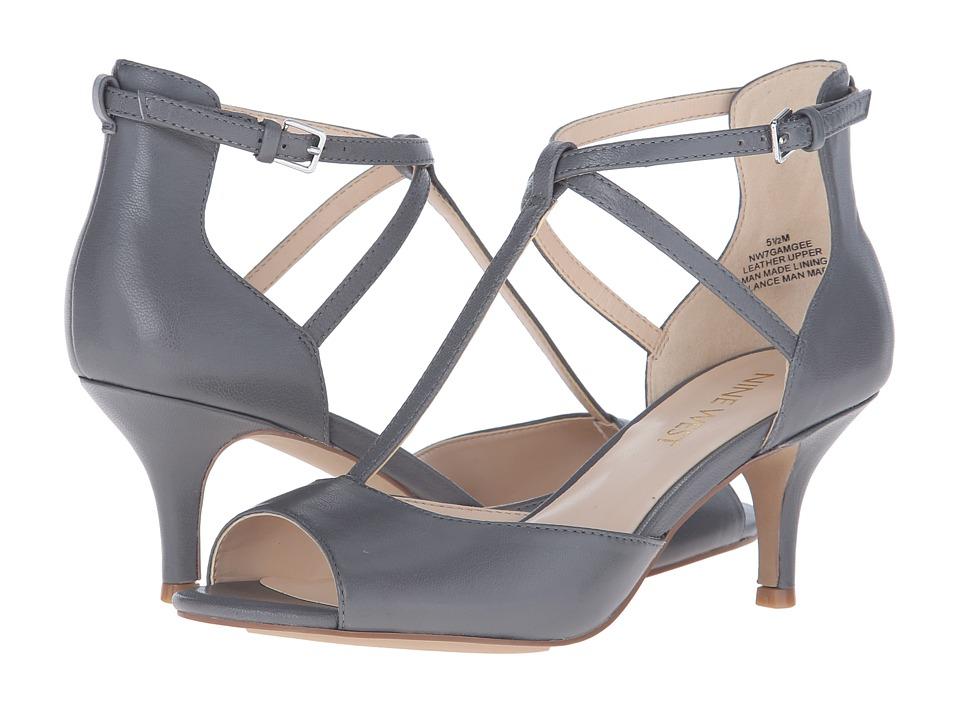 Nine West Gamgee Gray Leather High Heels
