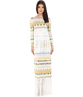 Rachel Zoe - Francesca Knit with Fringe Printed Dress