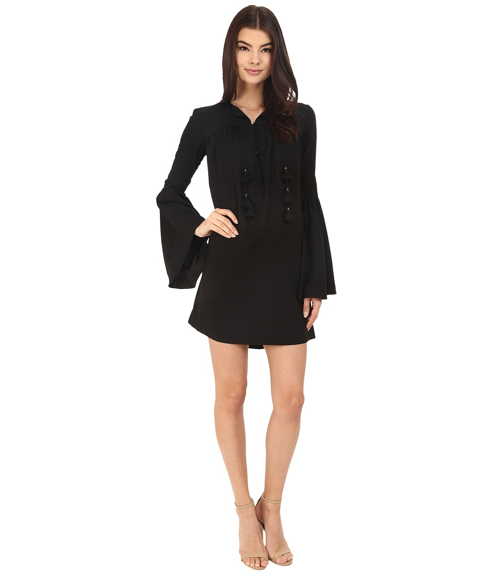 Rachel Zoe Helen Bell Sleeve Dress Black Womens Dress