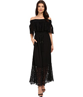 Rachel Zoe - Pila Off the Shoulder Lace Midi Dress