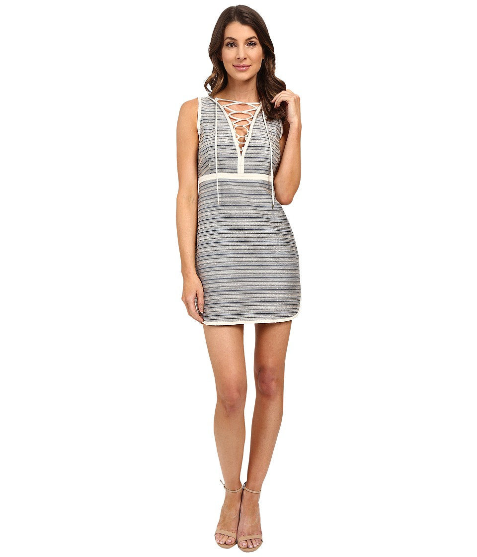Rachel Zoe Amalia Sleeveless Dress Blue Stripe Womens Dress