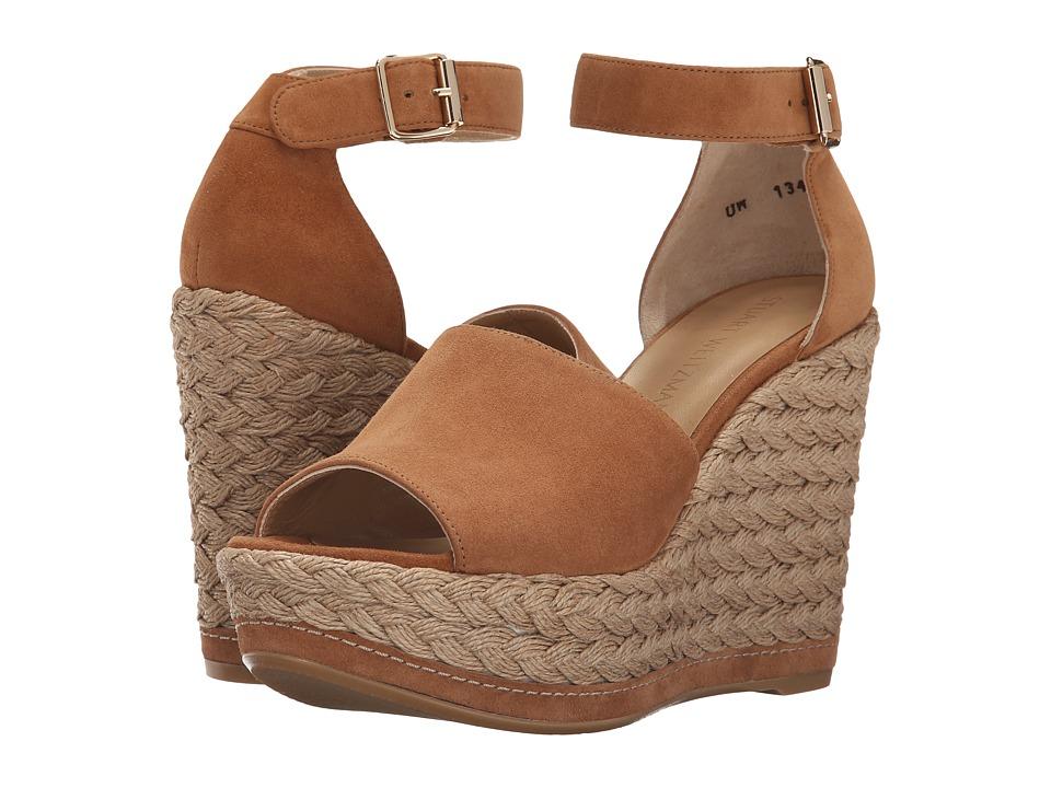 Stuart Weitzman Sohojute (Toffee Suede) Women's Wedge Shoes