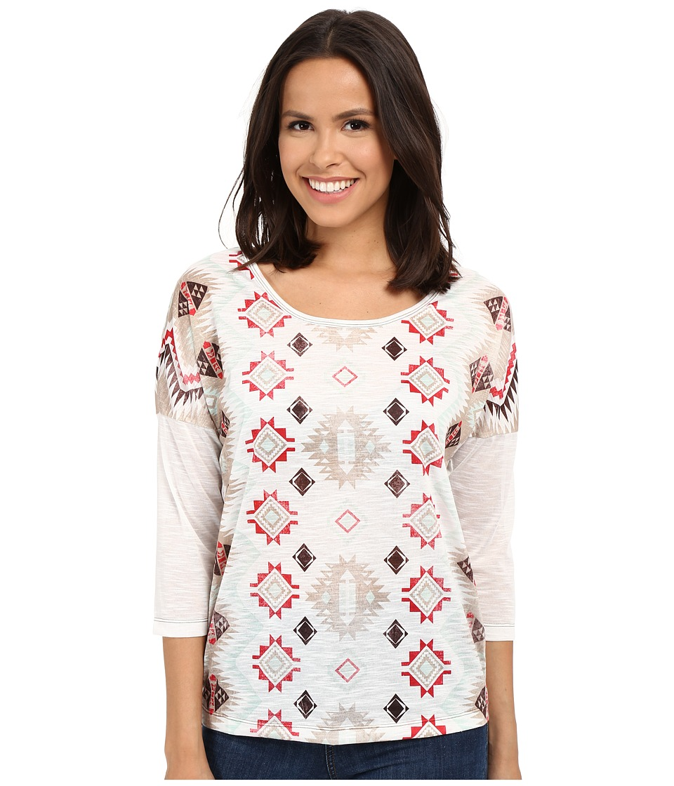 Cruel Tribal Print Dropped Sleeve Top Assorted Womens Long Sleeve Pullover