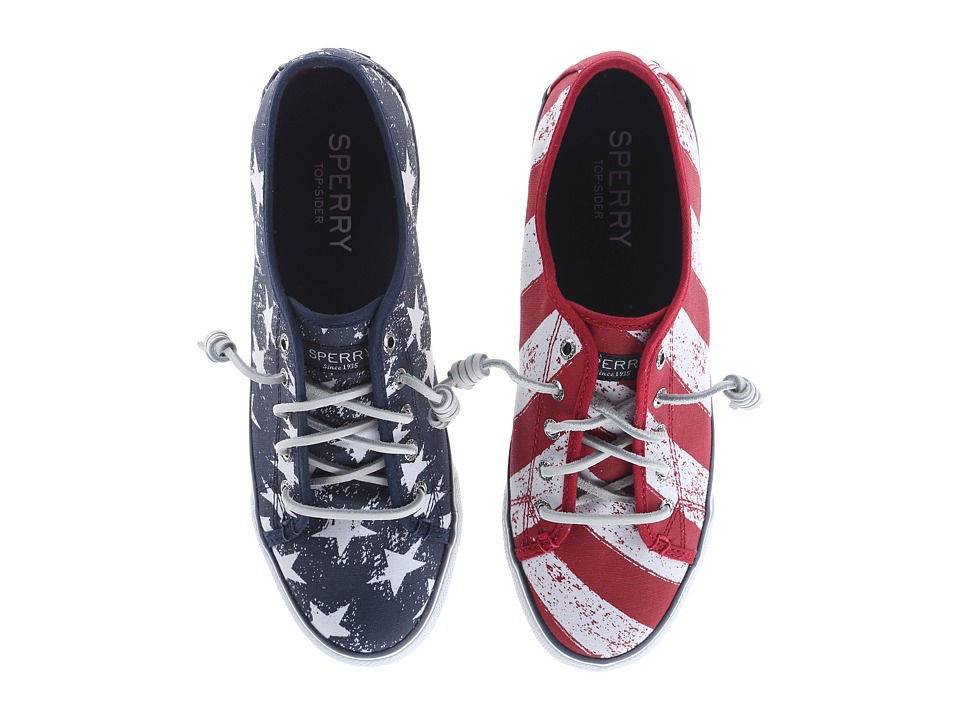 Sperry Top Sider Seacoast Stars Stripes Red/White/Blue Womens Lace up casual Shoes