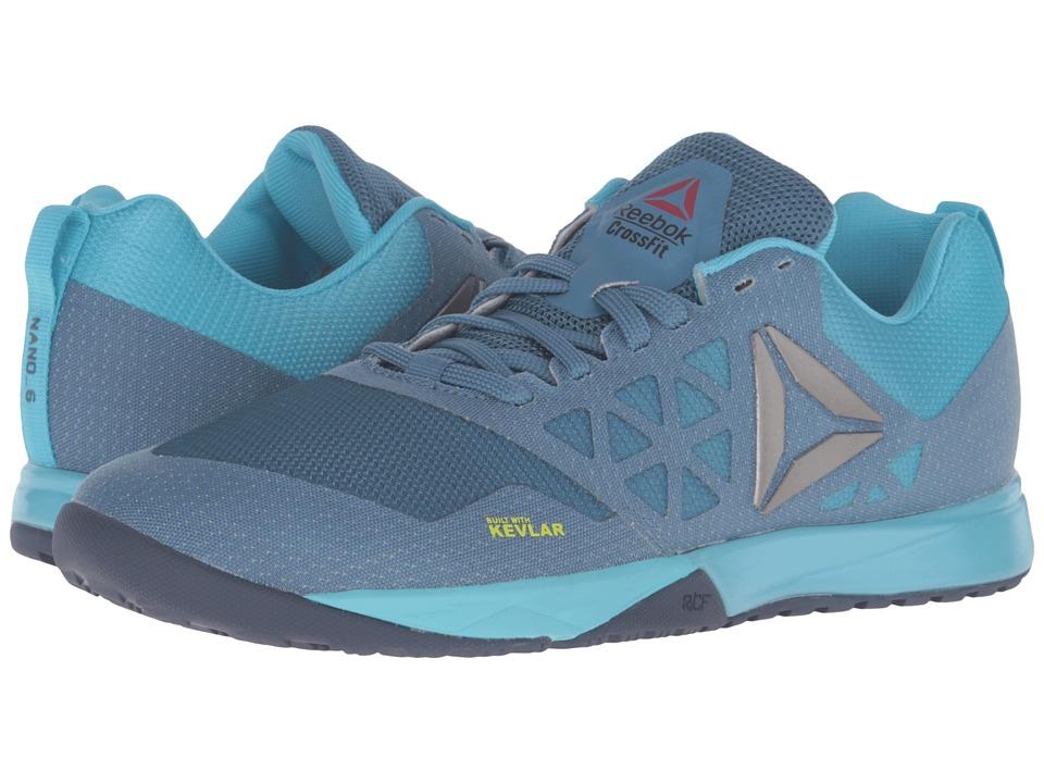 Reebok - Crossfit Nano 6.0 (Slate/Crisp Blue/Lemon Zest/Blue Ink/Pewter) Womens Cross Training Shoes