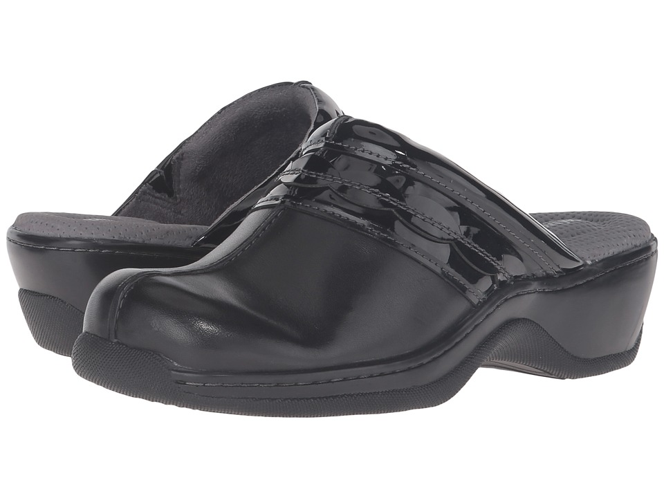 SoftWalk - Abby (Black Veg Calf Leather/Patent) Women